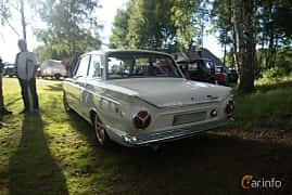 Back/Side of Ford Cortina GT 2-door 1.5 Manual, 76ps, 1966 at Eddys bilträff Billesholm Augusti 2017