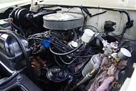 Engine compartment  of Ford Fairlane Crown Victoria Skyliner 4.8 V8 Manual, 203ps, 1956 at Onsdagsträffar på Gammlia v.33 / 2018