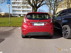 Back of Ford Fiesta 5-door 1.0 EcoBoost Manual, 100ps, 2016