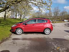 Side  of Ford Fiesta 5-door 1.0 EcoBoost Manual, 100ps, 2016