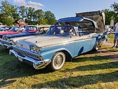 Front/Side  of Ford Galaxie Skyliner 4.8 V8 Automatic, 203ps, 1959 at Fordonsträffar i Flen v.30 / 2019