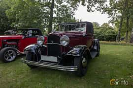 Front/Side  of Ford Model 18 Cabriolet 3.6 V8 Manual, 66ps, 1932 at Billesholms Veteranbilsträff 2019 augusti