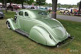 Back/Side of Ford Model 48 5-window Coupé 3.6 V8 Manual, 86ps, 1935 at Hässleholm Power Start of Summer Meet 2016