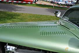 Close-up of Ford Model 48 5-window Coupé 3.6 V8 Manual, 86ps, 1935 at Hässleholm Power Start of Summer Meet 2016
