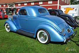 Back/Side of Ford Model 68 3-window Coupé 3.6 V8 Manual, 86ps, 1936 at Grensetreff Halden 2013