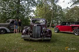 Front  of Ford Model 68 3-window Coupé 3.6 V8 Manual, 86ps, 1936 at Billesholms Veteranbilsträff 2019 augusti
