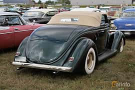 Bak/Sida av Ford Model 68 Cabriolet 3.6 V8 Manual, 86ps, 1936 på Falköping Nasco Yankee Meet 2018