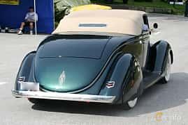 Bak/Sida av Ford Model 68 Cabriolet 3.6 V8 Manual, 86ps, 1936 på Grensetreff Halden 2015