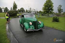 Front/Side  of Ford Model 68 Cabriolet 3.6 V8 Manual, 86ps, 1936 at Bil & MC-träffar i Huskvarna Folkets Park 2019 Amerikanska fordon
