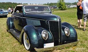 Fram/Sida av Ford Model 68 Cabriolet 3.6 V8 Manual, 86ps, 1936 på Power America Fest, Nossebro 2016