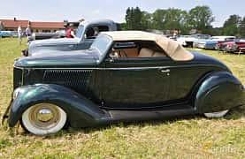 Sida av Ford Model 68 Cabriolet 3.6 V8 Manual, 86ps, 1936 på Power America Fest, Nossebro 2016