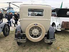 Back of Ford Model A Tudor Sedan 3.3 Manual, 41ps, 1928 at Old Car Land no.2 2019
