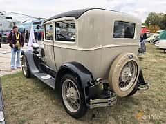 Back/Side of Ford Model A Tudor Sedan 3.3 Manual, 41ps, 1928 at Old Car Land no.2 2019