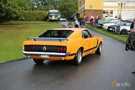 Back/Side of Ford Mustang 5.8 V8 Manual, 254ps, 1970 at Bil & MC-träffar i Huskvarna Folkets Park 2019 Amerikanska fordon