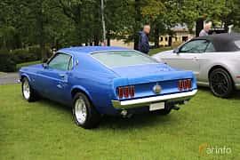 Back/Side of Ford Mustang 5.8 V8 Manual, 294ps, 1969 at Bil & MC-träffar i Huskvarna Folkets Park 2019 Amerikanska fordon