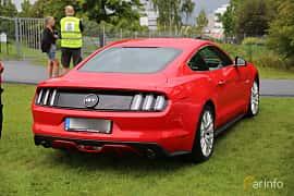 Back/Side of Ford Mustang GT 5.0 V8 SelectShift, 421ps, 2016 at Bil & MC-träffar i Huskvarna Folkets Park 2019 Amerikanska fordon