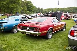 Back/Side of Ford Mustang Mach I 5.8 V8 Automatic, 254ps, 1969 at Tjolöholm Classic Motor 2016