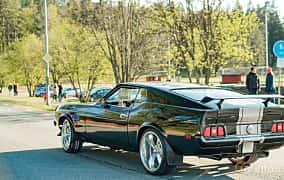 Back/Side of Ford Mustang 4.9 V8 Automatic, 213ps, 1971 at Wheelers Cruising, Vetlanda 2019