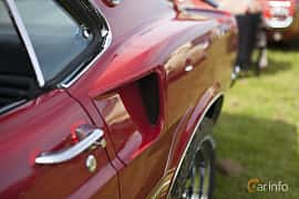 Close-up of Ford Mustang Mach I 5.8 V8 Automatic, 254ps, 1969 at Tjolöholm Classic Motor 2014
