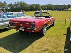 Back/Side of Ford Mustang Convertible 4.7 V8 Automatic, 198ps, 1968 at Eddys bilträff Billesholm 2019 Tema Opel och Chevrolet