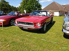 Front/Side  of Ford Mustang Convertible 4.7 V8 Automatic, 198ps, 1968 at Eddys bilträff Billesholm 2019 Tema Opel och Chevrolet