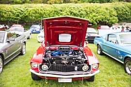 Engine compartment  of Ford Mustang Mach I 5.8 V8 Automatic, 254ps, 1969 at Tjolöholm Classic Motor 2016