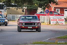 Front/Side  of Ford Mustang Mach I 5.8 V8 Automatic, 254ps, 1969 at Classic Car Week Rättvik 2016