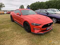 Front/Side  of Ford Mustang GT 5.0 V8 Automatic, 450ps, 2019 at Svenskt sportvagnsmeeting 2019