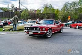 Front/Side  of Ford Mustang 7.0 V8 Manual, 340ps, 1969 at Vårcruising Järna 2019