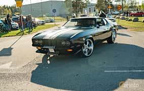 Front/Side  of Ford Mustang 4.9 V8 Automatic, 213ps, 1971 at Wheelers Cruising, Vetlanda 2019