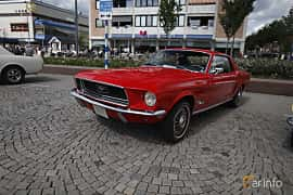 Front/Side  of Ford Mustang Hardtop 3.3 Manual, 117ps, 1968 at Riksettanrallyt 2017