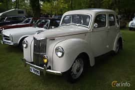 Front/Side  of Ford Prefect 1.2 Manual, 30ps, 1950 at Billesholms Veteranbilsträff Maj / 2015