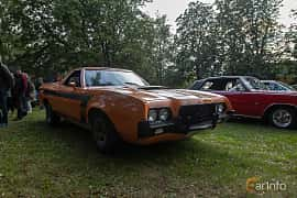 Front/Side  of Ford Ranchero 4.9 V8 Automatic, 142ps, 1972 at Billesholms Veteranbilsträff 2019 augusti