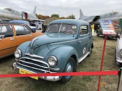 Front/Side  of Ford Taunus Limousine 1.2 Manual, 34ps, 1951 at Old Car Land no.2 2019