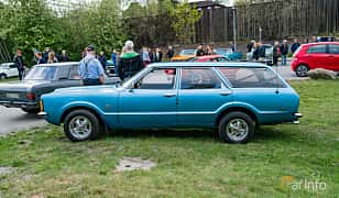 Side  of Ford Taunus Turnier 1.6 Manual, 72ps, 1973 at Vårcruising Järna 2019