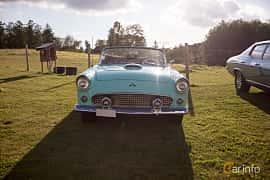 Fram av Ford Thunderbird Hardtop 4.8 V8 Automatic, 196ps, 1955 på Bil & Mc-café vid Tykarpsgrottan v.33 (2017)