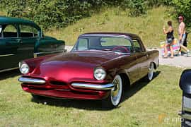 Front/Side  of Ford Thunderbird 1955 at A-bombers - Old Style Weekend Backamo 2019