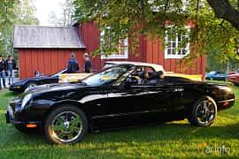 Side  of Ford Thunderbird Convertible 3.9 V8 Automatic, 256ps, 2002 at Onsdagsträffar på Gammlia Umeå 2019 vecka 35