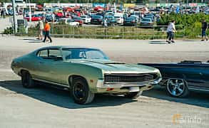 Front/Side  of Ford Torino GT SportsRoof 5.8 V8 Automatic, 243ps, 1971 at Stockholm Vintage & Sports Car meet 2019