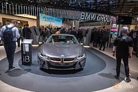 Fram av BMW i8 1.5 + 11.6 kWh Steptronic, 374ps, 2020 på IAA 2019