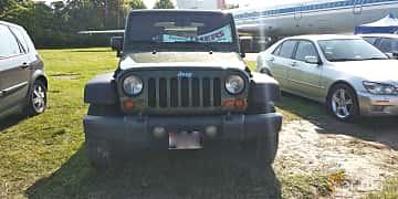 Front  of Jeep Wrangler 3.8 V6 4WD 199ps, 2007 at Old Car Land no.1 2019
