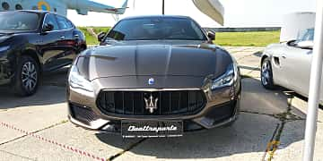 Front  of Maserati Quattroporte S Q4  Automatic, 430ps, 2019 at Old Car Land no.1 2019