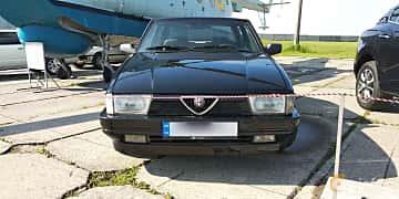 Front  of Alfa Romeo 75 2.0 Manual, 145ps, 1991 at Old Car Land no.1 2019