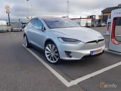 Front/Side of Tesla Model X P90D 90 kWh AWD Single Speed, 511ps, 2016