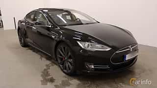 Fram/Sida av Tesla Model S P85D 85 kWh AWD Single Speed, 511ps, 2015