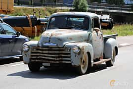 Front/Side  of Chevrolet 3100 3.5 91ps, 1949 at A-bombers - Old Style Weekend Backamo 2019