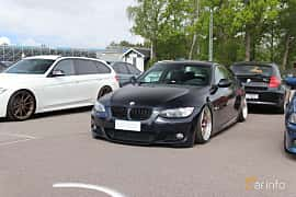 Front/Side  of BMW 3 Series Coupé 2007 at Bimmers of Sweden @ Mantorp 2019