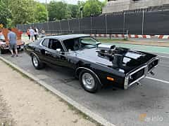 Front/Side  of Dodge Charger Hardtop 7.2 V8 284ps, 1973 at Father's Day Classic Car Show New York 2019