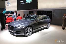 Front/Side  of Jaguar XF 20d Sportbrake AWD  Automatic, 180ps, 2020 at IAA 2019
