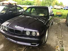 Front/Side  of BMW 5 Series Sedan 1994 at Old Car Land no.1 2019